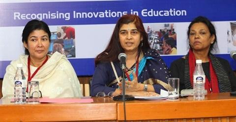(From L-R) Dr. Huma Masood,  Prof Poonam Agrawal,  Ms. Bhagya Rangachar